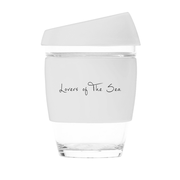 Reusable Coffee Cups - White (12oz) - Lovers of The Sea