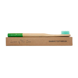 Bamboo Toothbrush - Green - Lovers of The Sea