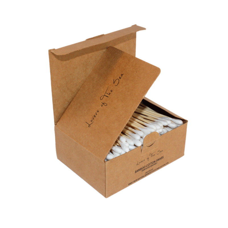 Bamboo Cotton Swabs (200 Pieces) - Lovers of The Sea