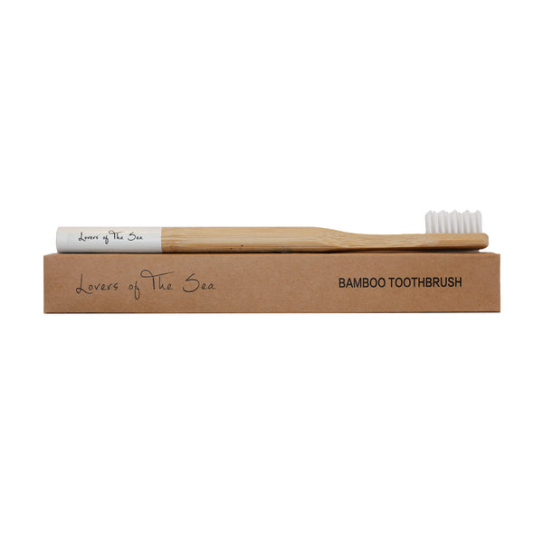 Bamboo Toothbrush - White - Lovers of The Sea