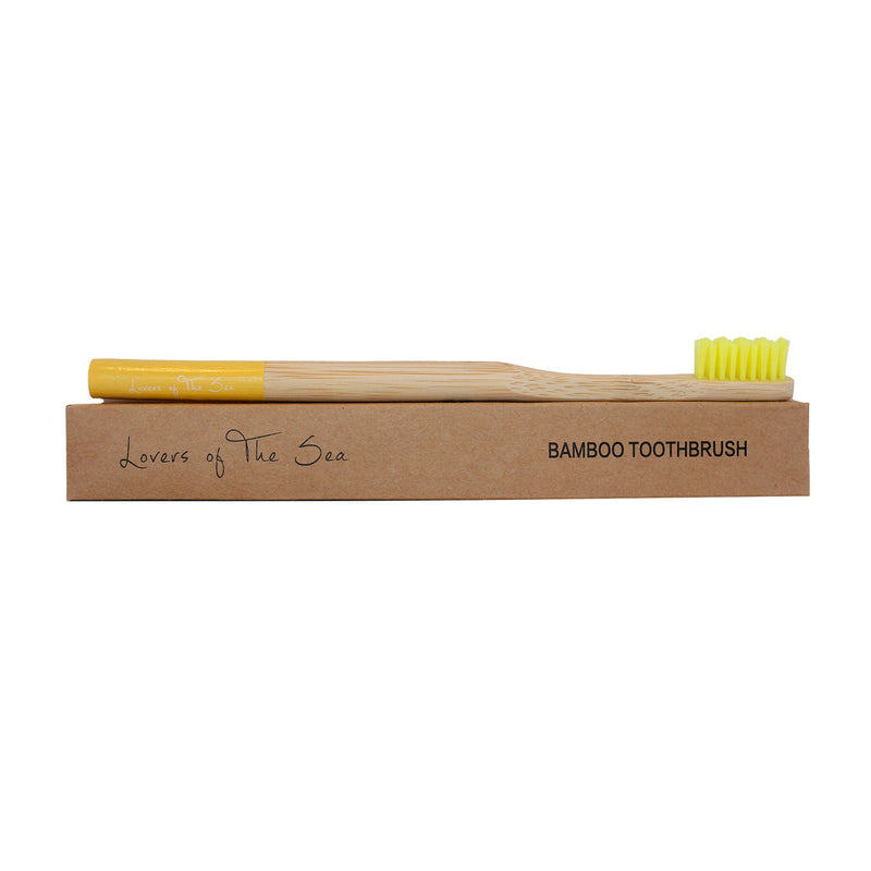Bamboo Toothbrush - Yellow - Lovers of The Sea