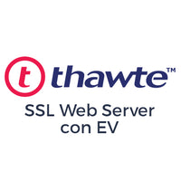 Certificado SSL Thawte SSL Web Server con EV
