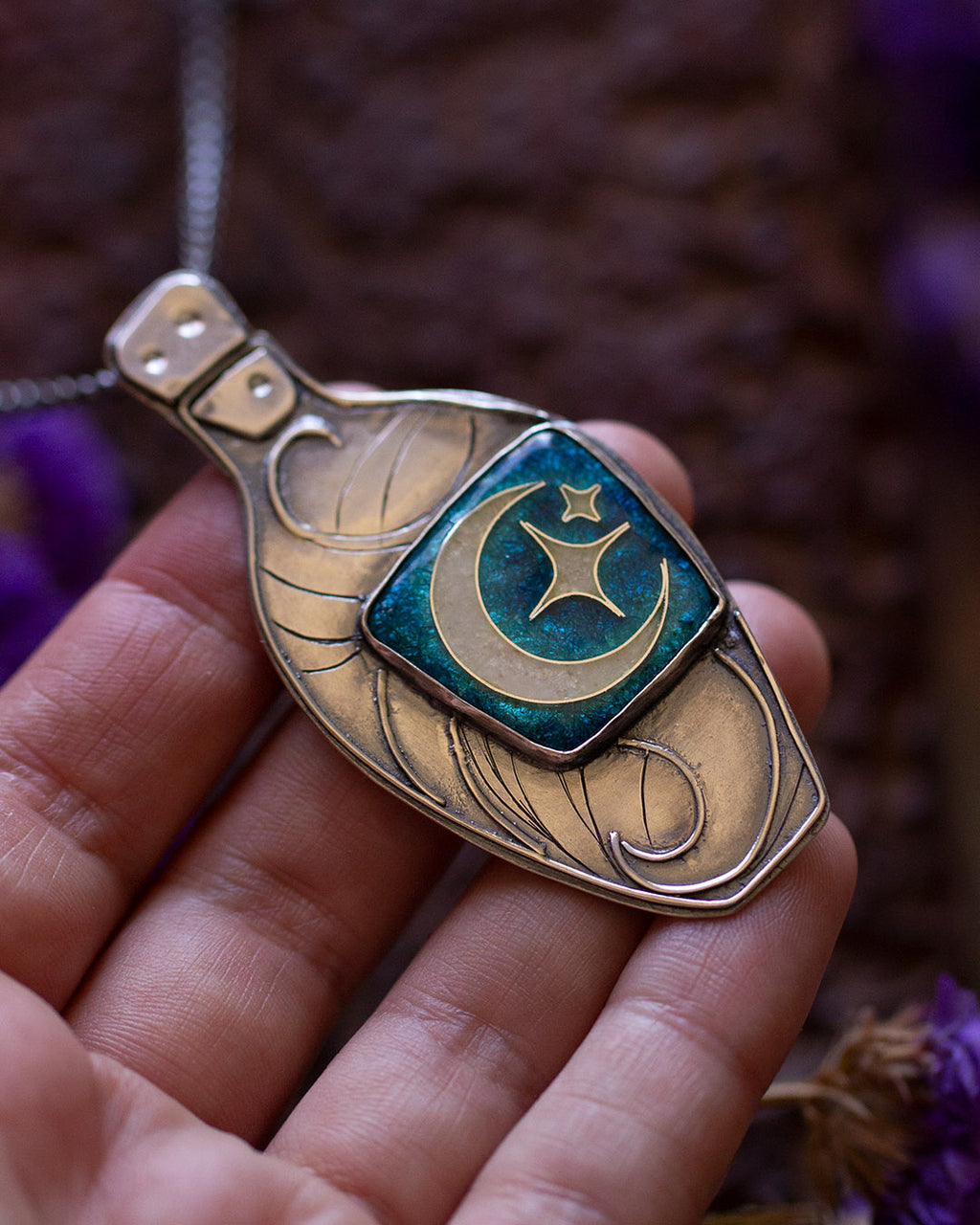 Cordial of Calming Seas Necklace ~ Salty Witch Collection