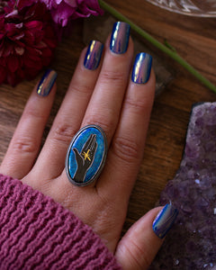 Star in Hand ~  Cloisonne enamel Ring ~ Hope collection