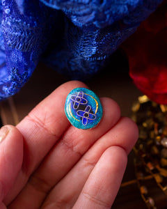 Quantum Entanglement ~ Cloisonné enamel Ring ~ Emergence collection