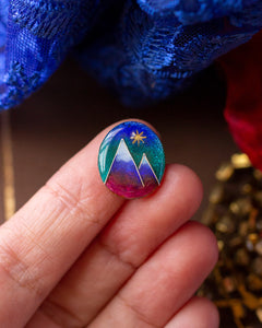 Star Over Mountain Peaks ~ Cloisonné enamel Ring ~ Emergence collection