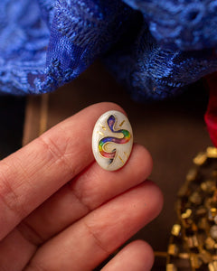 The Hatchling Snake  ~ Cloisonné enamel Ring ~ Emergence collection