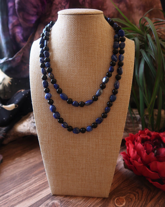 Deep Romantic Strand • Lapis Lazuli and Onyx • Xanadu collection
