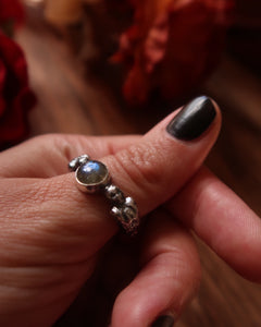 Song Of The Harpies in Labradorite ~ Thumb/Pointer Ring Size 8 3/4