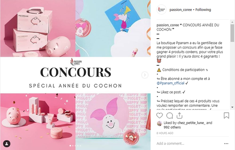 CONCOURS GIVE AWAY avec le compte Instagram Passion_Coreee !