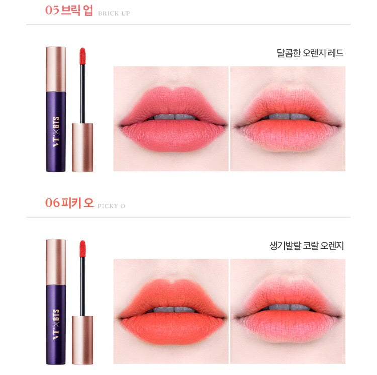 Cosmetique Coreen VT BTS Super Tempting Maquillage Tint a Levres