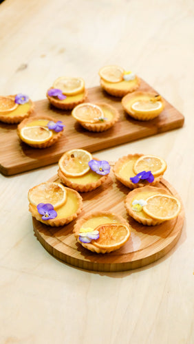 純素糖烤檸檬撻 Mini Vegan Lemon Tarts