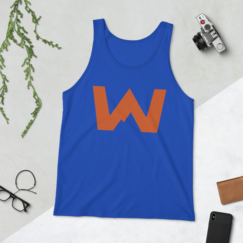 Wafloy Mountain Village Orange Logo Unisex Tank Top