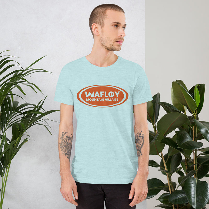 Wafloy Mountain Village Orange Logo Unisex T-Shirt