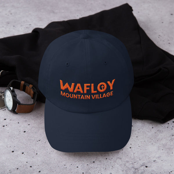 Wafloy Mountain Village Orange Logo Embroidered Hat