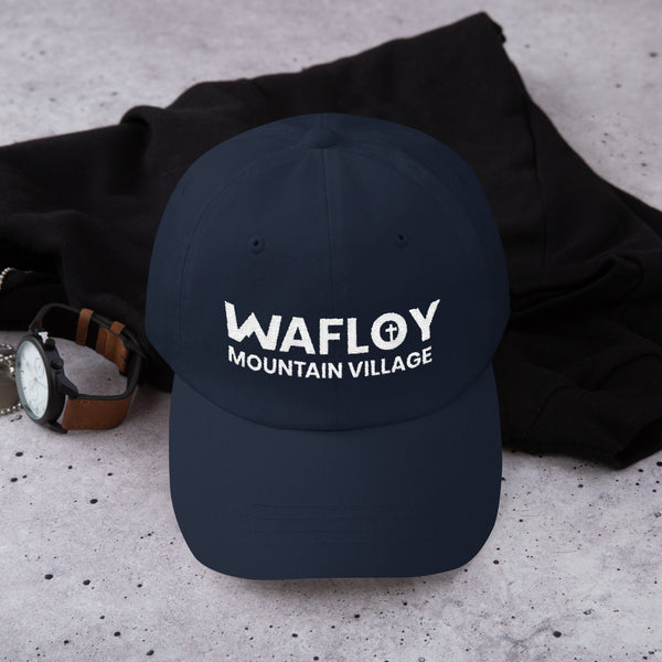 Wafloy Mountain Village White Logo Embroidered Hat