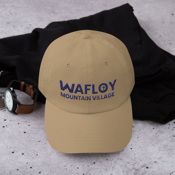 Wafloy Mountain Village Blue Logo Embroidered Hat
