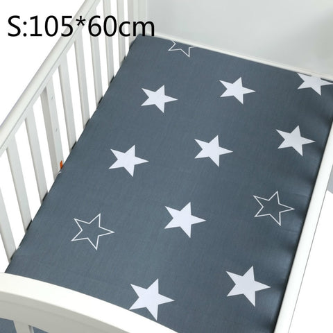 Cotton Crib Fitted Sheet Soft Breathable Baby Bed Mattress - Family Lovee