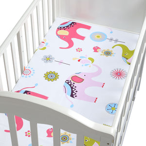 100% Cotton Lovely Pattern Newborn Bebe Bed Crib Sheet Mattress Cover Protector for Baby Woven Paddy Fitted Sheets(130*70 CM)