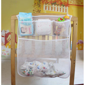 Baby Bed Hanging Storage Bag Crib Organizer Toy Diaper Pocket For Cradle Bedding-M15