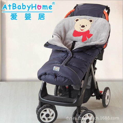 Baby Sleeping Bag Winter Envelope Cotton Sleeping Sack For Newborn Warm Cute Cocoon Blanket Wrap Bedding Windproof Baby Stroller