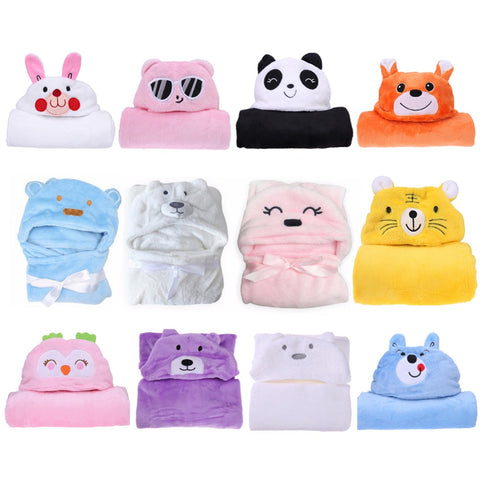 Image of Baby hooded bathrobe colors - Family Love