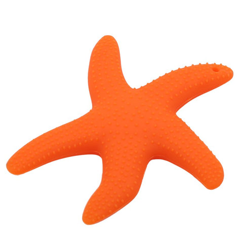 Image of Food Grade Top Silicone Teether Starfish Shape Baby Teethers - Family Lovee