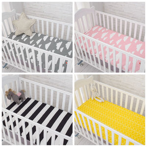 Muslin Cotton Crib Fitted Mattress Cover - Family Lovee Baby Shopping