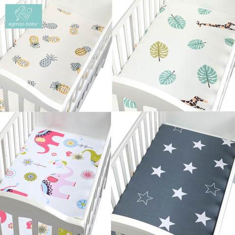 Newborn baby crib fitted sheets Cartoon soft crib bed sheet cotton kids bedding mattress protectors covers baby bedsheet - Family Lovee