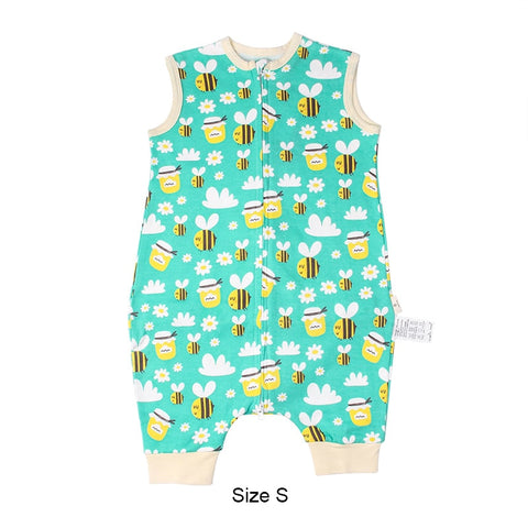 Sleeping Bag For Children Pure Cotton Baby Sleep Bag For Kids Cute Cartoon Pattern Sleeveless Baby Sleep Sack For Summer