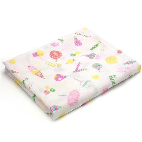 [simfamily]1pc Muslin 100% Cotton Newborn Swaddles Soft Baby deken Gauze infant Blankets wrap sleepsack swaddleme manta cobertor