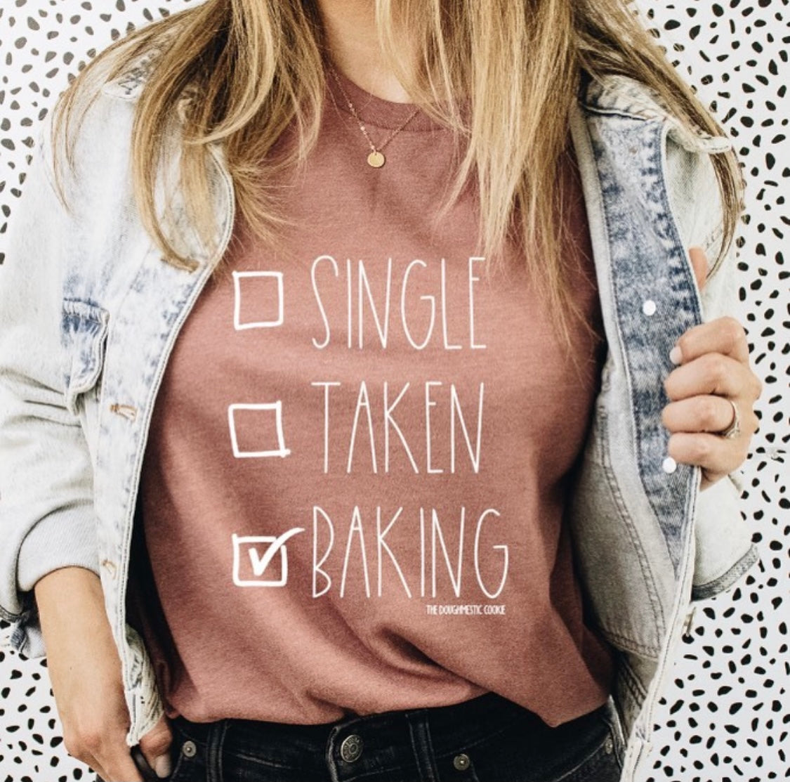 SINGLE TAKEN BAKING Tee Mauve
