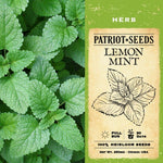 Lemon Mint Herb Seeds (250mg) - My Patriot Supply