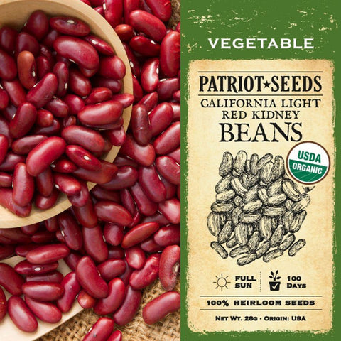 Organic California Light Red Kidney Beans (28g) - My Patriot Supply