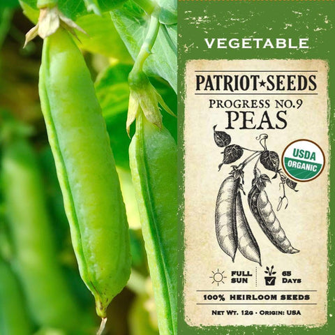 Organic Progress No. 9  Pea Seeds (12g) - My Patriot Supply
