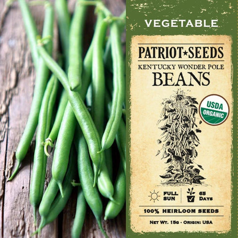 Organic Kentucky Wonder Beans (15g) - My Patriot Supply