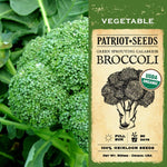 Organic Green Sprouting Calabrese Broccoli Seeds (500mg) - My Patriot Supply