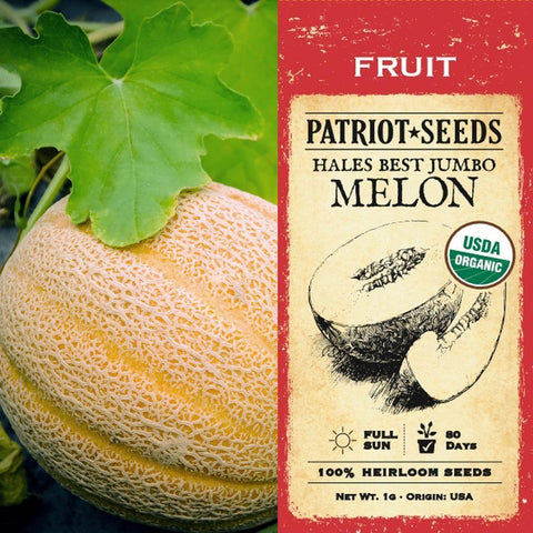 Organic Hales Best Jumbo Melon Seeds (1g) - My Patriot Supply