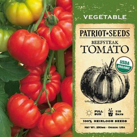 Organic Beefsteak Tomato Seeds (250mg) - My Patriot Supply
