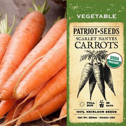 Organic Scarlet Nantes Carrot Seeds (250mg) - My Patriot Supply
