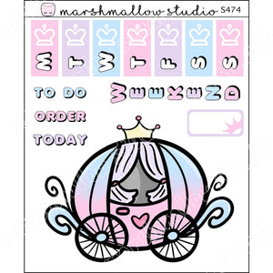BASIC HOBO/ HP MICRO KIT - CARRIAGE - PLANNER STICKERS - S474 - Marshmallow Studio
