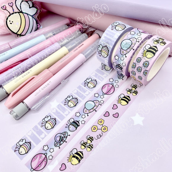 *BUNDLE* - BEE~LOVED - 15mm WASHI TAPE - LIMITED EDITION - Marshmallow Studio