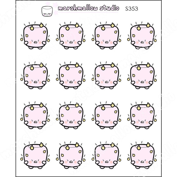 COCOA MARSHMALLOW - FEEL THE BURN - PLANNER STICKERS - S353 - Marshmallow Studio