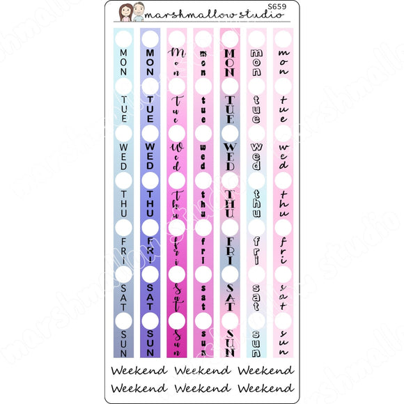 DATE STRIPS - HOBONICHI WEEKS- PLANNER STICKERS - S659 - Marshmallow Studio