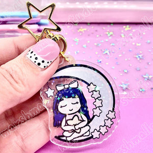 DEBBIE BLUE MOON - KEYCHAIN - LIMITED EDITION - Marshmallow Studio