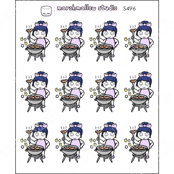 DEBBIE DOWNER - BBQ TIME! - PLANNER STICKERS - S496 - Marshmallow Studio
