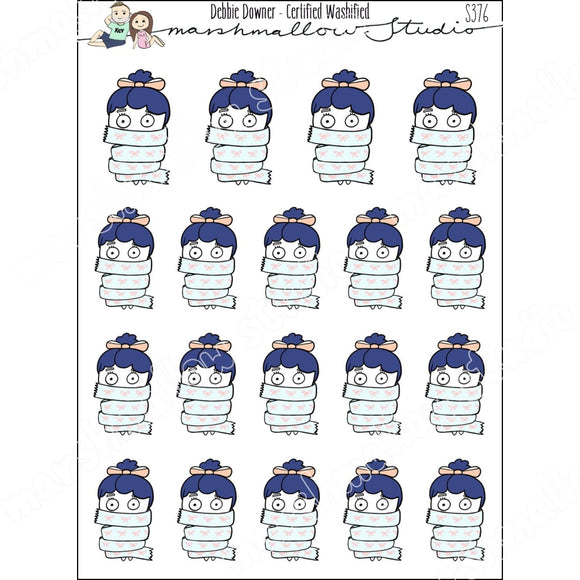 DEBBIE DOWNER - CERTIFIED WASHIFIED - PLANNER STICKERS S376 - Marshmallow Studio