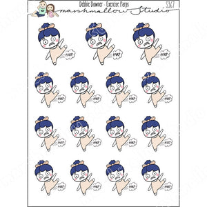DEBBIE DOWNER - EXERCISE PARP - PLANNER STICKERS S367 - Marshmallow Studio