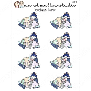 DEBBIE DOWNER - FLOORDROBE- PLANNER STICKERS S345 - Marshmallow Studio