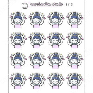 DEBBIE DOWNER - I NEED SPACE - PLANNER STICKERS - S415 - Marshmallow Studio